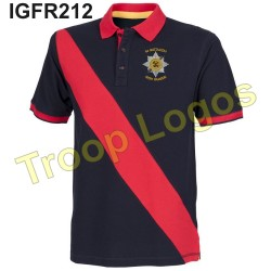 Irish Guards Blue Red Blue Polo Shirt