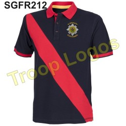 Scots Guards Blue Red Blue Polo Shirt